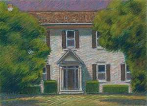 A typical Connecticut Colonial style house