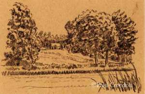 House in the Distance drawing