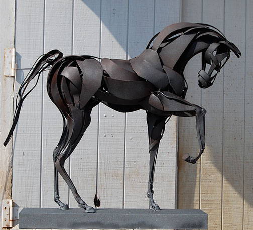 Metal Horse Sculpture by Marcia Spivak