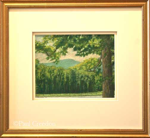Vermont scene, 10x8 framed, P.E. Creedon